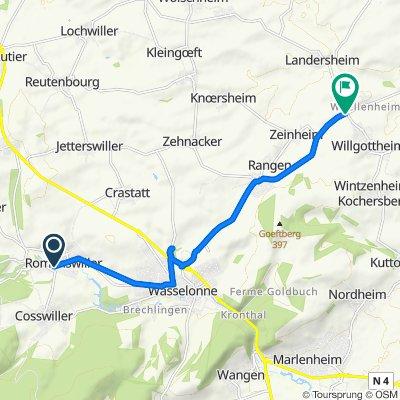 De 1 Rue Albert Schweitzer, Romanswiller à Route de Hochfelden, Willgottheim