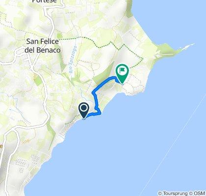 Via Porto San Felice 43, San Felice del Benaco nach Via Fornella 1, San Felice del Benaco
