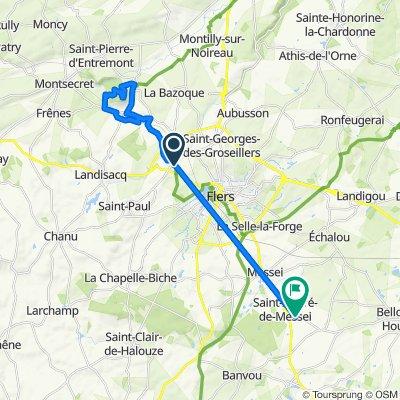 Itinéraire vers 38 Rue de Saires, Saint-André-de-Messei