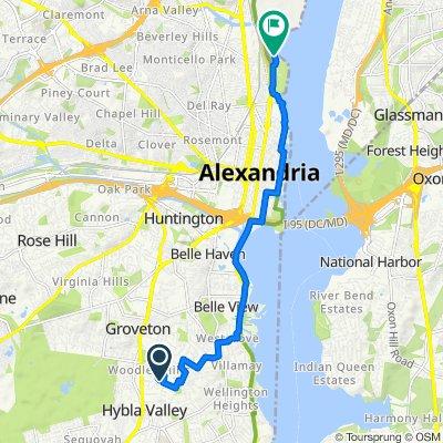 De 2719 Arlington Dr, Alexandria a 1 Marina Dr, Alexandria