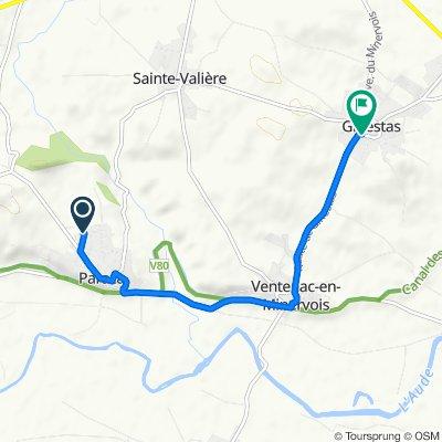 Itinéraire à partir de La Garrigue 13, Paraza