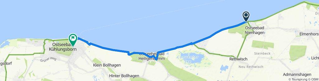 Am Meer 1, Nienhagen nach Doberaner Straße 32A, Kühlungsborn