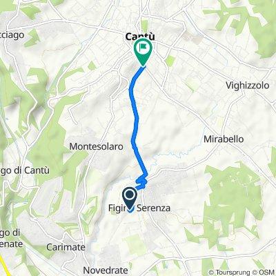 Via Armando Diaz 16, Figino Serenza to Via Milano 14/D, Cantu