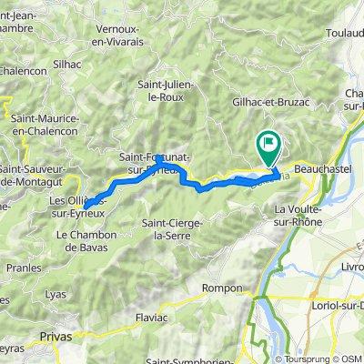 Impasse des Pins, Saint-Laurent-du-Pape naar 202 Le Plot d'Autussac, Saint-Laurent-du-Pape