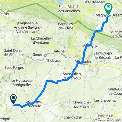 De Rue des Tilleuls Niort 13, Lassay-les-Châteaux à Le Bourg 25, Magny-le-Désert