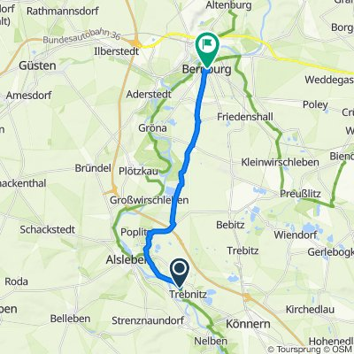 Langer Weg 26, Könnern nach Heinrich-Zille-Straße 2, Bernburg (Saale)