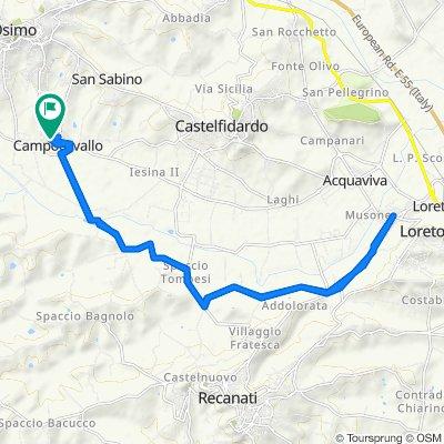 Da Via Recanati 66, Campocavallo a Via Recanati 66, Campocavallo