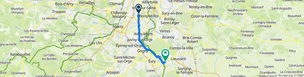 De Rue Henri Dunant 29, Thiais à Rue Paul Valéry 4, Saint-Germain-lès-Corbeil
