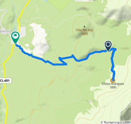 Ruta a Camino del Juego de Bolos, 1–7, San Ildefonso