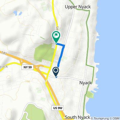 2 N Midland Ave, Nyack to 257 N Highland Ave, Nyack