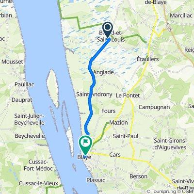 De 12 Chemin du Pinier, Braud-et-Saint-Louis à 31bis Rue Saint-Romain, Blaye