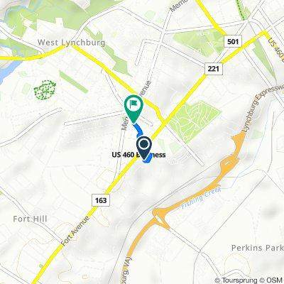 1507 Russell St, Lynchburg to N Grand Ave, Lynchburg