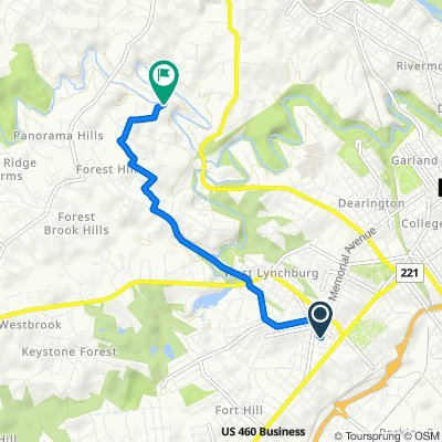 1001–1099 N Grand Ave, Lynchburg to 2824 Sedgewick Dr, Lynchburg
