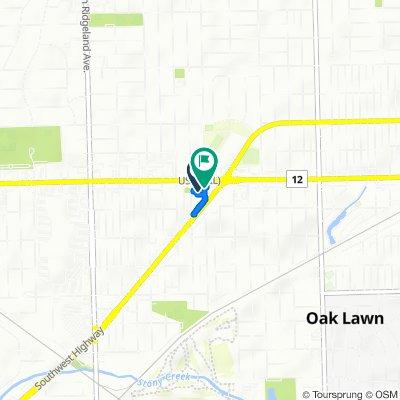 6001 W 95th St, Oak Lawn to 6001 W 95th St, Oak Lawn