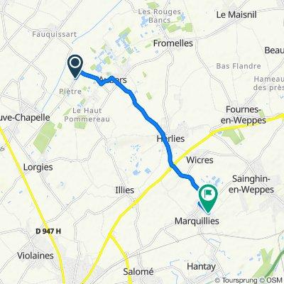 De 22 Rue de Piètre, Aubers à 436 Rue du Touquet, Marquillies