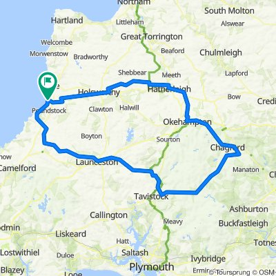2 day Dartmoor route from Bude