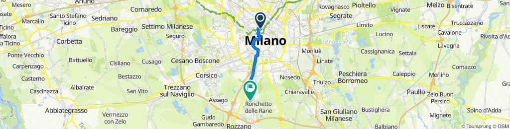 Da Largo La Foppa 1, Milano a Via Costantino Baroni 118, Gratosoglio