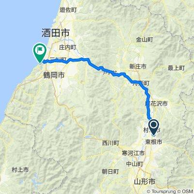 Higashine to Tsuruoka