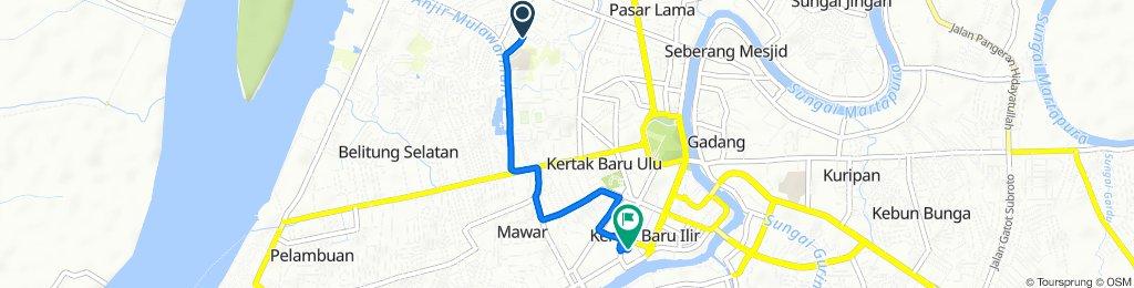 Jalan Pembangunan I 25, Kecamatan Banjarmasin Barat to Jalan RE Martadinata 1, Kecamatan Banjarmasin Tengah