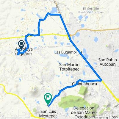 De Calle Sor Juana Inés de la Cruz 17, Villa de Almoloya de Juárez a Carretera, Zinacantepec