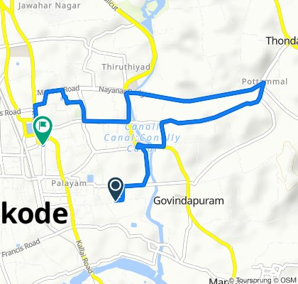 Relaxed route in Kozhikode