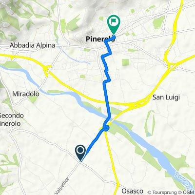 Via Val Pellice 46, Airali to Via Martiri del Ventuno 6, Pinerolo