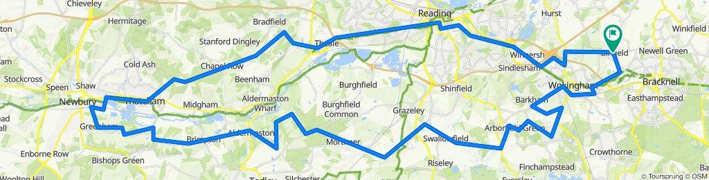 Newbury via North and South 63 miles