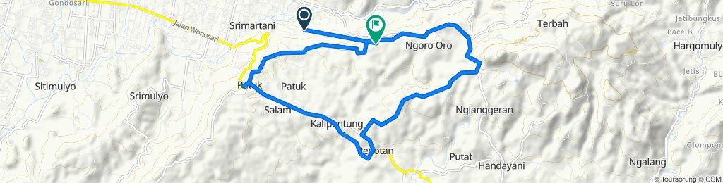 Srimartani, Kecamatan Piyungan to Jalan Ngoro Ngoro Ombo, Kecamatan Piyungan