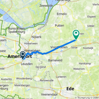 Van Smetanastraat in Amersfoort (Utrecht) naar Krieghuisweg in Raalte (Overijssel) - Fietsersbond Routeplanner