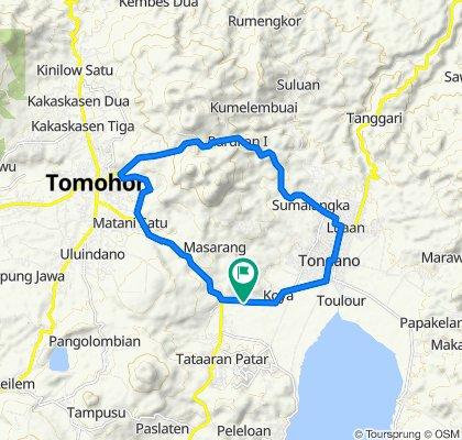 Jalan Tomohon-Tondano, Tondano Barat to Jalan Tomohon-Tondano, Tondano Barat