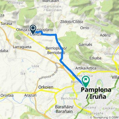 Calle de San Juan, Berrioplano to Avenida de Guipúzcoa, 5D, Pamplona/Iruña