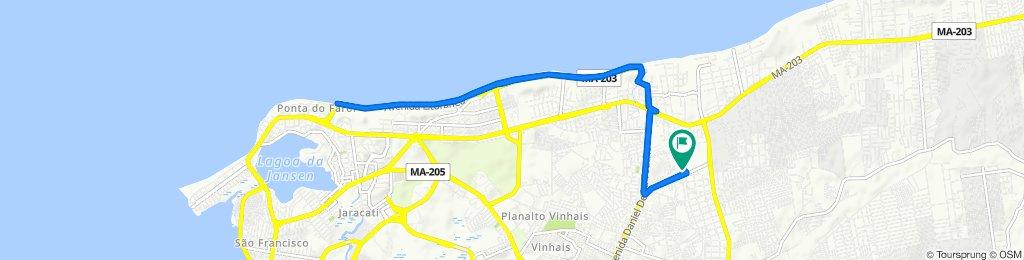 De Avenida Mário Andreaza, 3, São Luís a Avenida Mário Andreaza, 3, São Luís