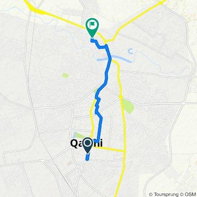 От O'zbekiston ko'chasi 47, Qarshi до Unnamed Road, Qarshi