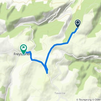 Itinéraire vers D224, Freyssenet