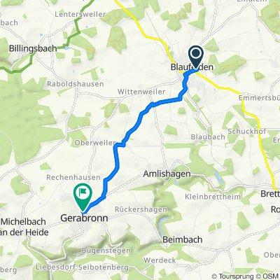 Ahornweg 6, Blaufelden nach Zum Spritzenhaus 2, Gerabronn