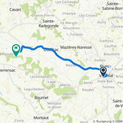 Rue des Amours, Villeréal to 113–473 La Clède, Ferrensac