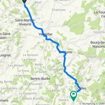 D101, Saint-Martial-Viveyrol naar 173C La Pouge, Celles