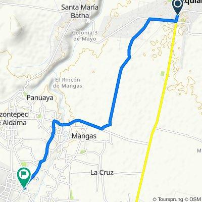 De Carretera Mixquihuala-Tlacotlapilco 38C–46, Mixquiahuala a Calle Constitución, Tezontepec de Aldama