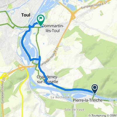 Route nach 13 Rue du Stade, Dommartin-lès-Toul