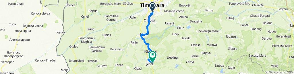 Strada Mareşal Alexandru Averescu 70, Timișoara to DJ693B 764, Jebel
