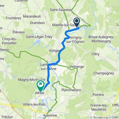 7 Route de Maxilly, Heuilley-sur-Saône to 25 Rue du Centre, Athée