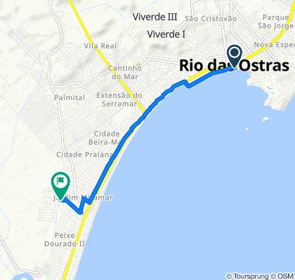 De Praça José Pereira Câmara, Rio das Ostras a Rua Borboleta, 50, Casimiro de Abreu