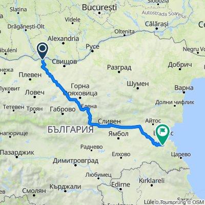 Route from Ulitsa Smolyanovi 1, Nikopol