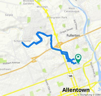375–385 W Cedar St, Allentown to 375–385 W Cedar St, Allentown