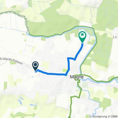 Itinéraire vers 84 Route de Jousson, Magné