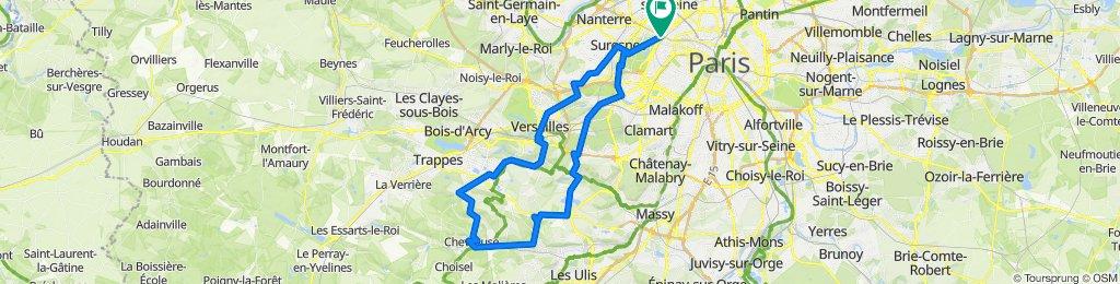 Route - Paris - Versailles - Millon - Chevreuse - Jouy - Sèvres