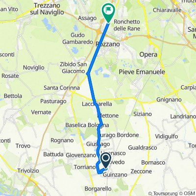 Da SP148, Giussago a Via Valleambrosia 38, Assago