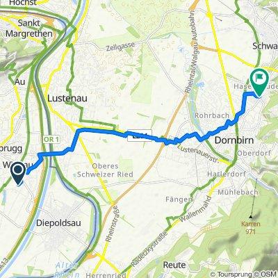 Heldstrasse 19A, Widnau nach Mitteldorfgasse 7b–11, Dornbirn