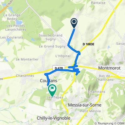 De Avenue Edgar Fauré 880, Montmorot à Rue Château Gaillard 31, Chilly-le-Vignoble
