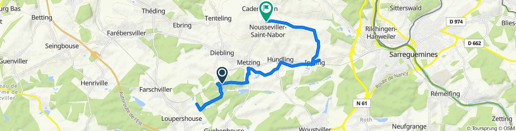 Itinéraire vers Rue Bellevue, Nousseviller-Saint-Nabor